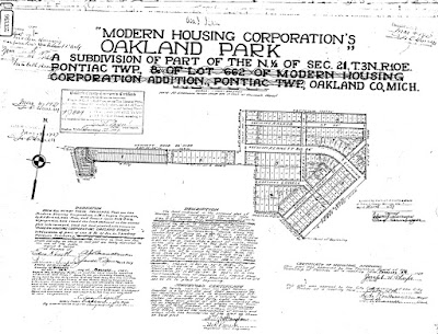 Modern Housing Corporation Oakland Park Subdivision