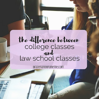 How law school classes differ from college classes. What law school classes are like. What to expect in a law school class | brazenandbrunette.com