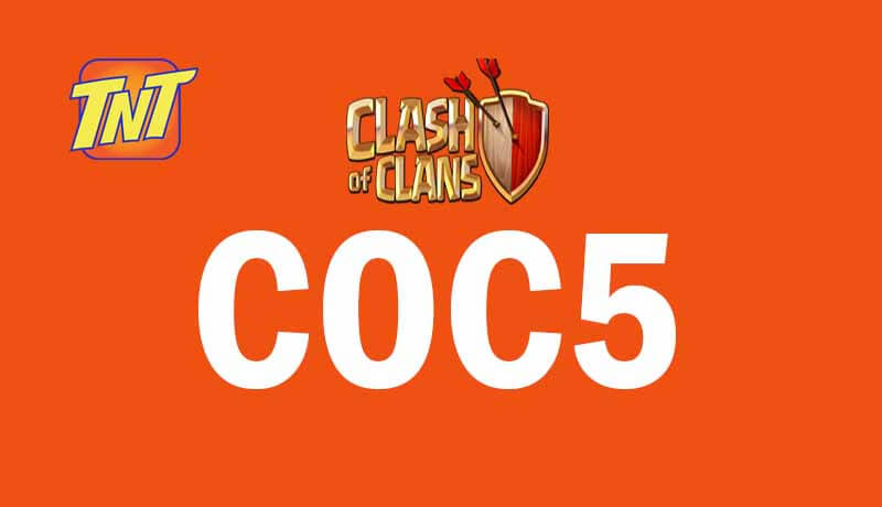 Talk N Text 5 Pesos COC5 Unli Clash of Clans Internet Promo for 1 Day