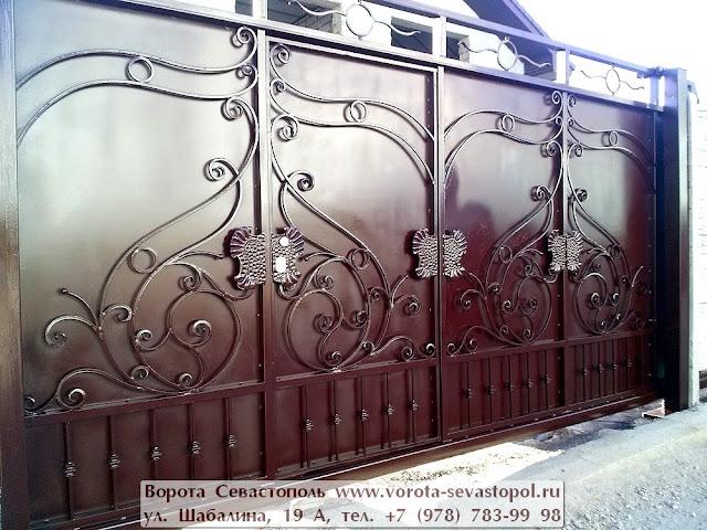 Вороты кованые фото