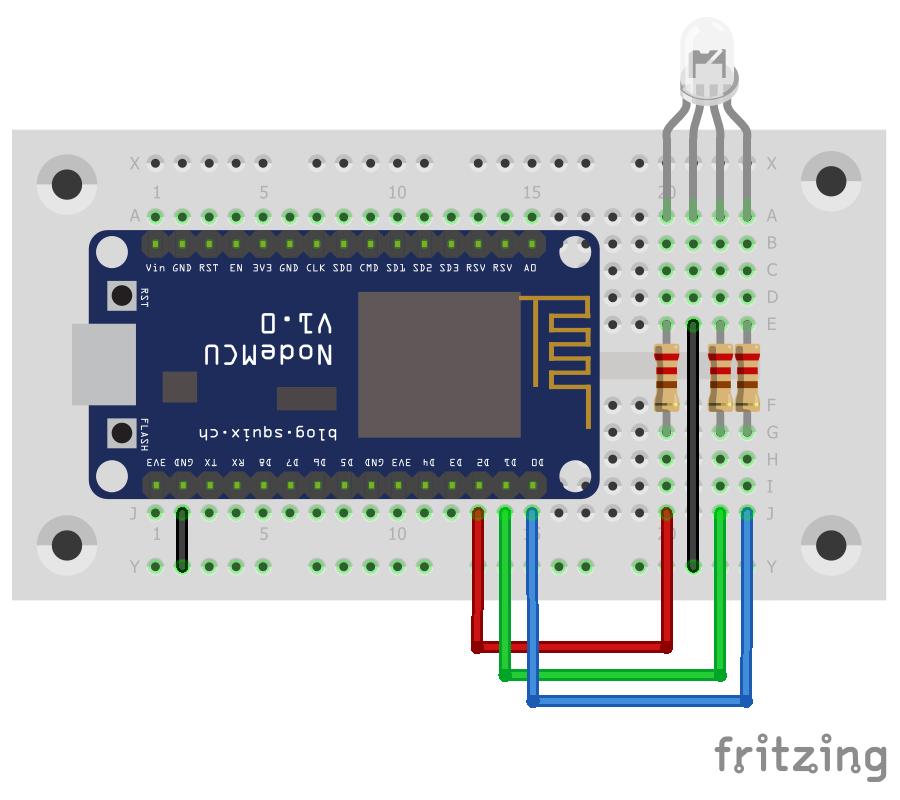 Arduino-er: NodeMCU/ESP8266 Arduino Core example, simple