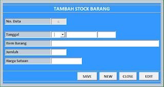 Aplikasi Excel Stock Persediaan Barang versi 3