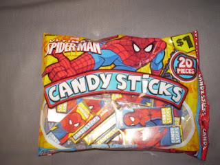 Front of Ultimate Spider-Man Candy Sticks bag