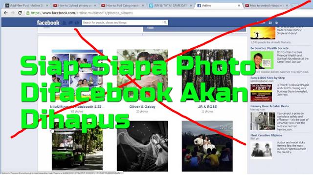 Siap-Siap, ISU Facebook akan Hapus Semua Foto Dan Kiriman Anda Mulai 16 September 2017 Ternyata Benar..