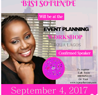 Bisi Sotunde : Event planner (Busy bee events)