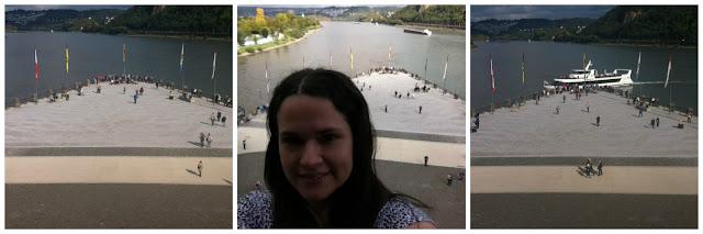 Deutsches Eck (esquina alemã) em Koblenz, encontro dos rios Mosel e Reno