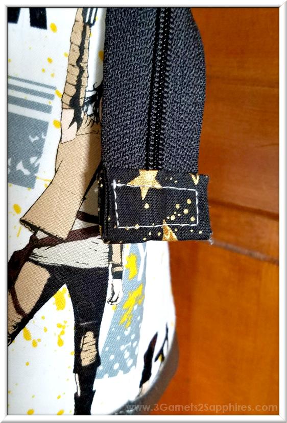 Custom Star Wars-Inspired Handbag Details   3 Garnets & 2 Sapphires