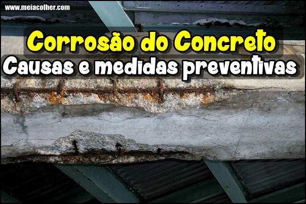 causas da corrosao do concreto