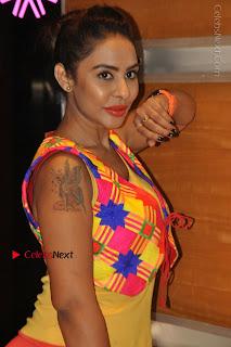 Telugu Actress Model Sri Reddy Latest Stills in Yellow Dress  0002.JPG