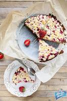 Ciasto z marcepanem i truskawkami przepis