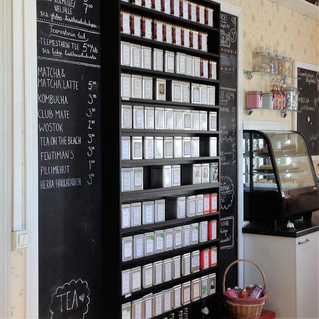 Jyväskylän teehuone, teevalikoima