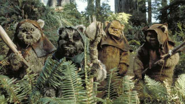 Four Ewoks from Return of the Jedi