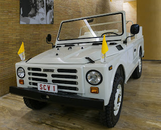 The open vehicle in which Pope John Paul II was travelling when the assassination attempt took place