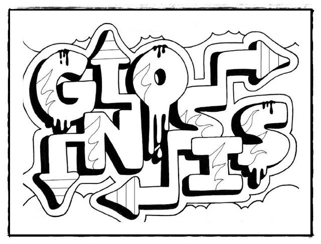 Graffiti ausmalbilder zum ausdrucken.