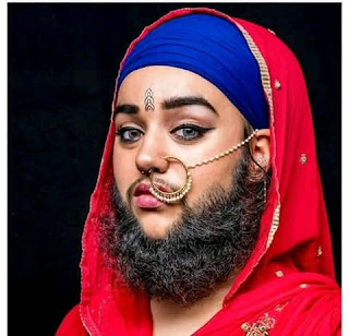 Hanaam Kaur - (First bearded woman) Biography