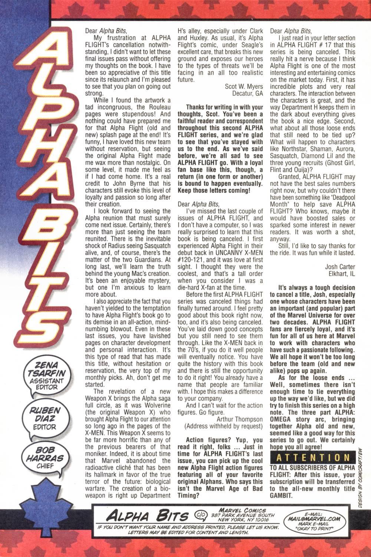 Read online Alpha Flight (1997) comic -  Issue #20 - 24