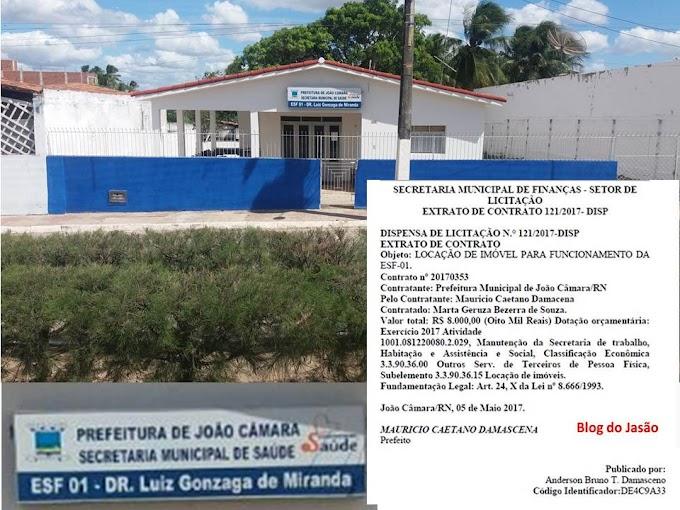 Nota: A Sr Marta explica que alugou a casa por 06 meses a prefeitura de João Câmara, sendo cada mês R$: 1.000,00 e que já recebeu um mês.