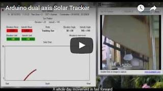 Arduino Controlled dual axis Solar Tracker
