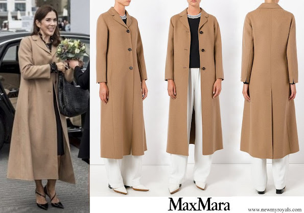 Crown Princess Mary wore Max Mara Flared Long Coat
