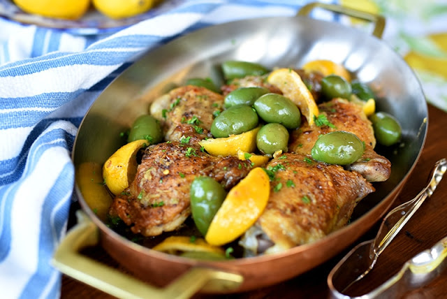 Braised Chicken with Lemon and Olives