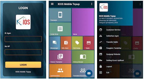 KIOS Mobile Topup, Download Aplikasi Android Server Kios Pulsa