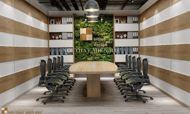 Màu sắc là yếu tố ảnh hưởng không nhỏ đến tính thẩm mỹ của không gian thiết kế nội thất phòng họp đẹp