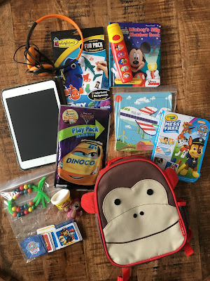 toddler airplane bag contents