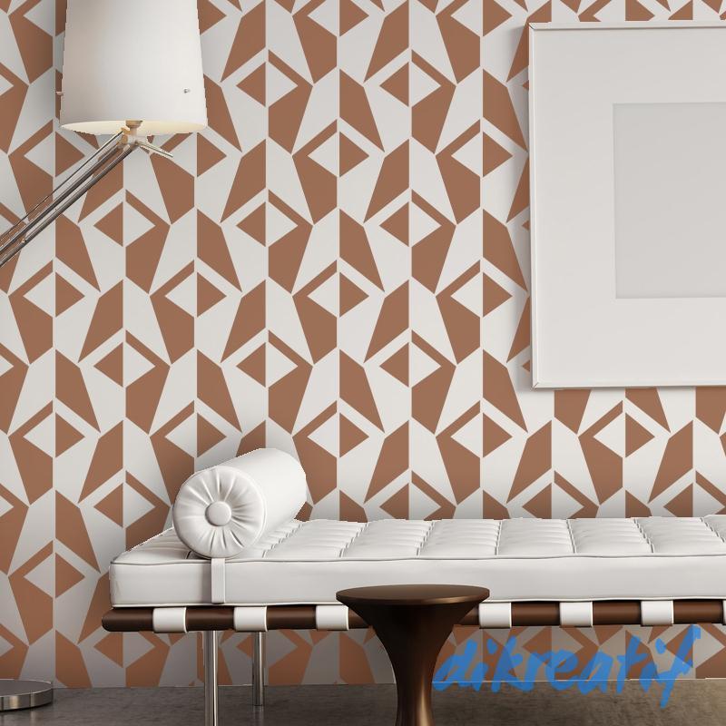 Kreasi Ngecat Dinding Kamar Dengan Model Stensil