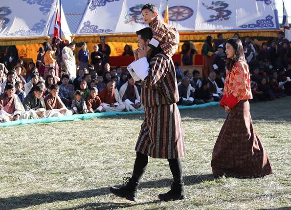 King Jigme Khesar Namgyel Wangchuck, Queen Jetsun Pema and Crown Prince Jigme Namgyal Wangchuck