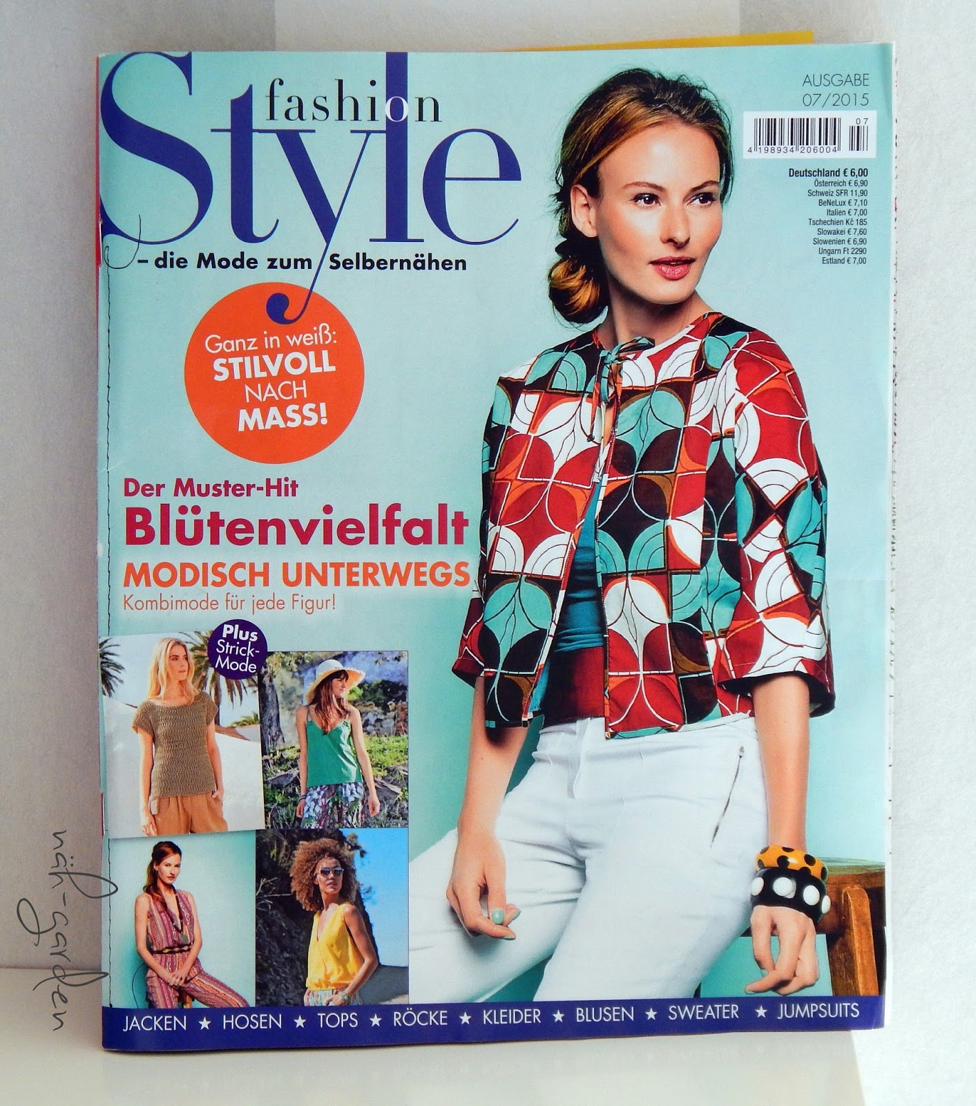 näh-garden : Schlafjacke aus der Zeitschrift my Style