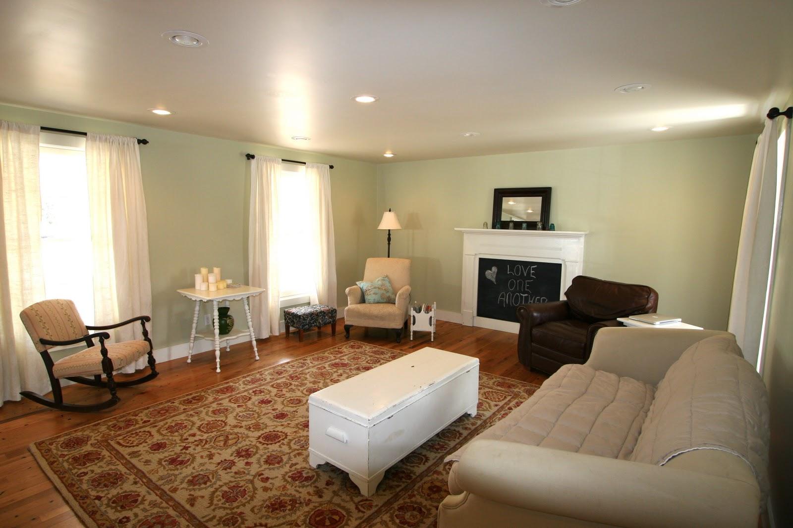 Cass House My Green Living Room