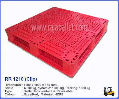 Pallet Plastik Medium Duty RR 1210 (Clip)