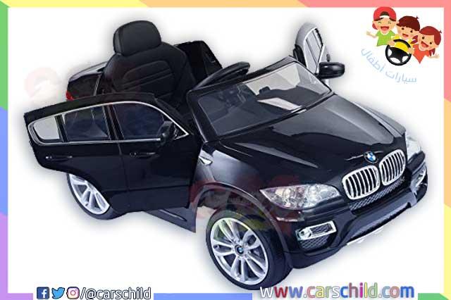 سيارة أطفال كهربائية تحمل اللون الأسود الأنيق