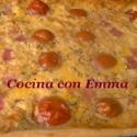 Pastel de jamón y tomate