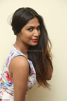 Nishi Ganda stunning cute in Flower Print short dress at Tick Tack Movie Press Meet March 2017 152.JPG
