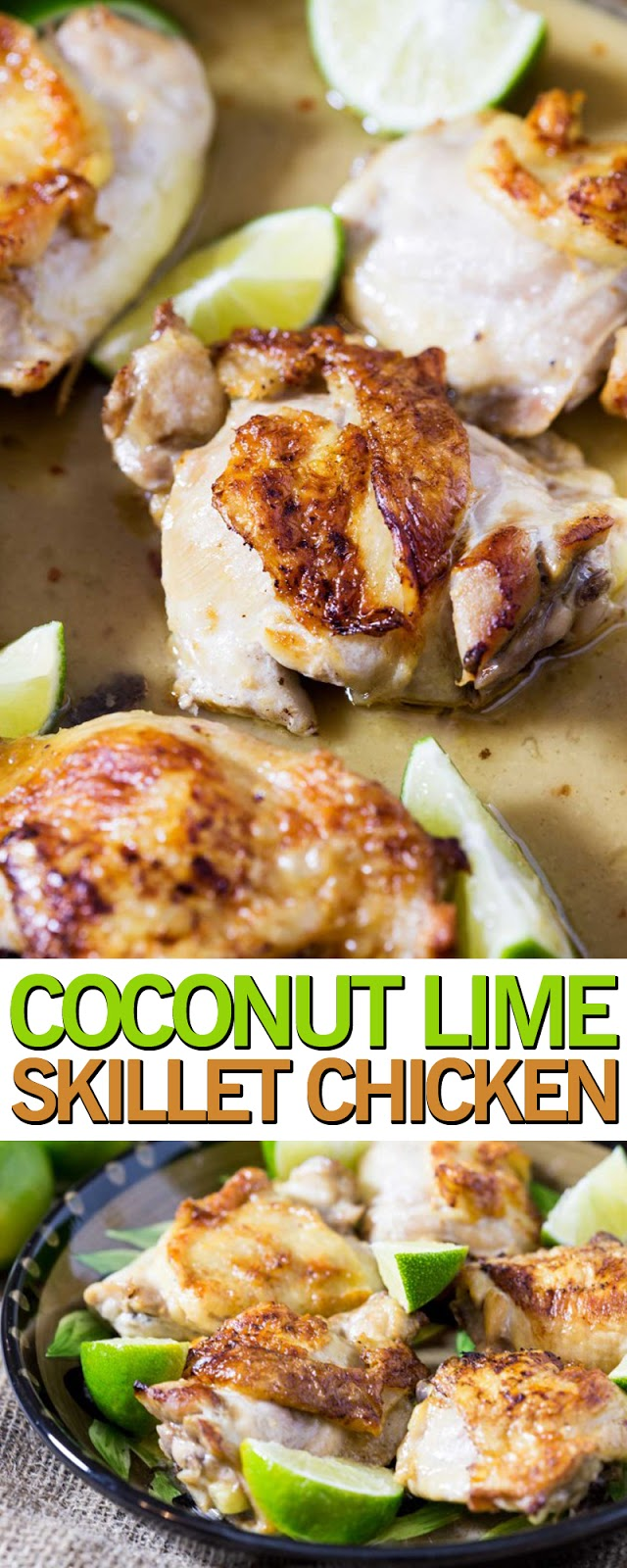 COCONUT LIME SKILLET CHICKEN
