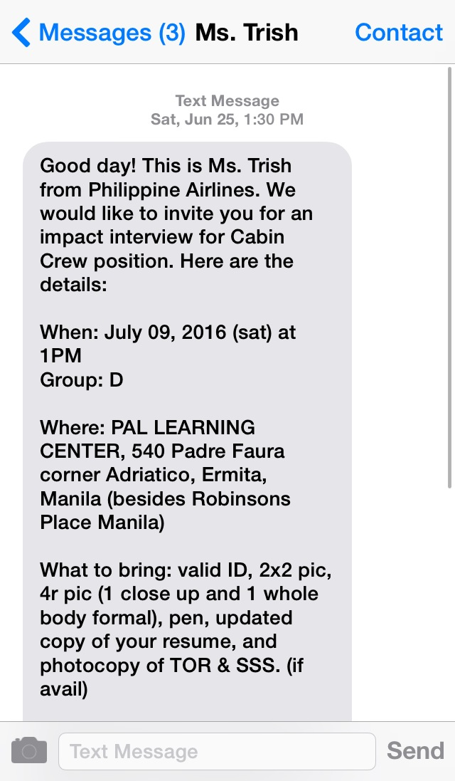 Up top down low pal cabin crew hiring experience the application text from pal stopboris