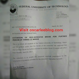 resumption date after futo strike