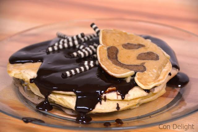 פנקייקס עם ציורים Pancakes with drawings