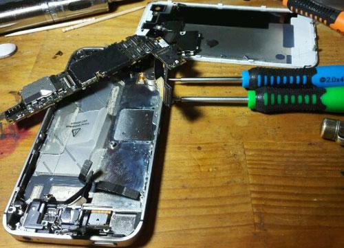 iPhoneの修理写真