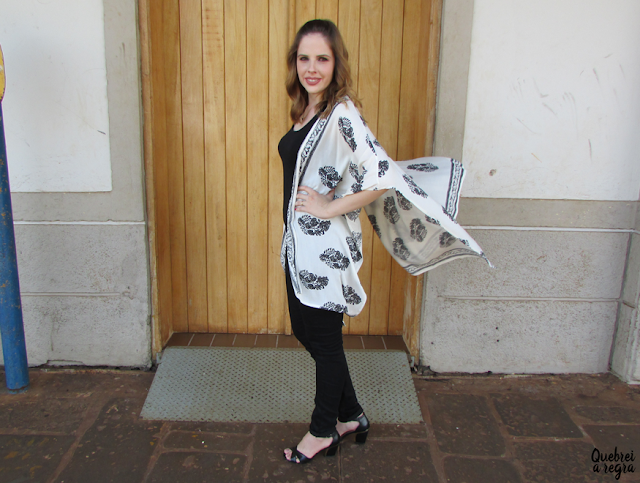 Look do dia: Maxi kimono estampado