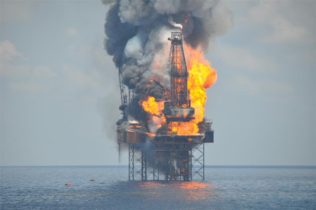 PTTEP Australasia's Montara rig explosion in Australia's offshore petroleum field. Oil Upon Troubled Waters. marchmatron.com