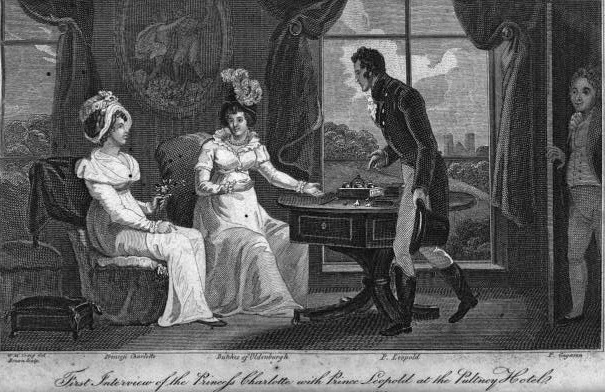 The first meeting between Princess Charlotte of Wales and Prince Leopold of Saxe-Coburg-Saalfeld
