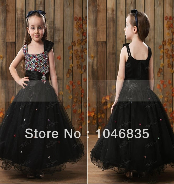 510601ea05f Stylish   Trendy Black Party Wear Dresses For Kids 2015 ~ She Style ...