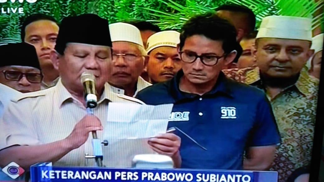 Bukan Gegabah, Ini Alasan Prabowo Deklarasi Kemenangan