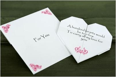 Kalp Şeklinde Mektup Hazırlamak
