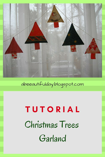 Christmas Trees Garland Tutorial-abeeautifulday.blogspot.com