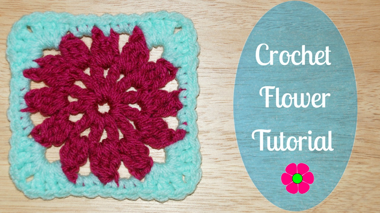Amy\'s Crochet Creative Creations: Crochet Flower Granny Square Tutorial
