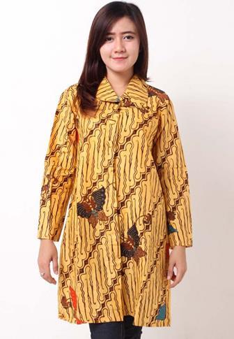 Contoh Model Blus Modern Batik