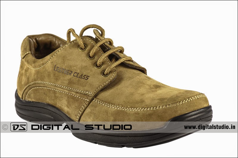 45 degrees side angle photograph of leather shoe